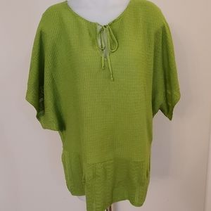Lane Bryant Green Batwing Top Sz 18/20 XXL